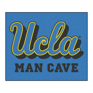 Fanmats Machine-Made UCLA Blue Nylon Man Cave Tailgater Mat (5' x 6')