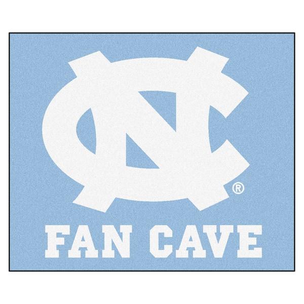 Fanmats Machine-Made University of North Carolina-Chapel Hill Blue Nylon Man Cave Tailgater Mat (5' x 6')