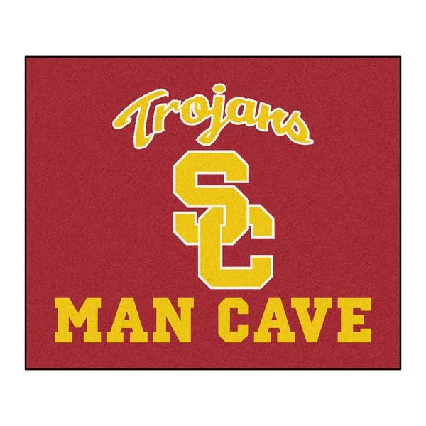 Fanmats Machine-Made University of Southern California Red Nylon Man Cave Tailgater Mat (5' x 6')