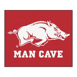 Fanmats Machine-Made University of Arkansas Red Nylon Man Cave Tailgater Mat (5' x 6')