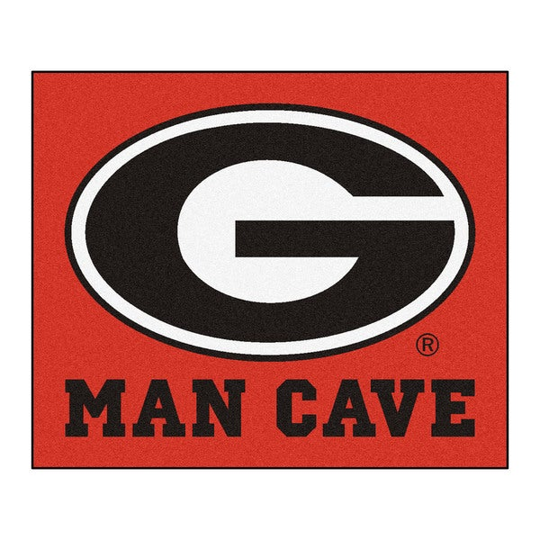 Fanmats Machine-Made University of Georgia Red Nylon Man Cave Tailgater Mat (5' x 6')