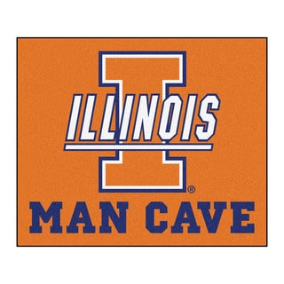 Fanmats Machine-Made University of Illinois Orange Nylon Man Cave Tailgater Mat (5' x 6')