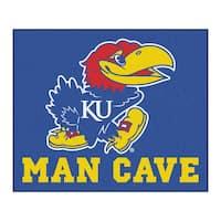 Fanmats Machine-Made University Kansas Blue Nylon Man Cave Tailgater Mat (5' x 6')