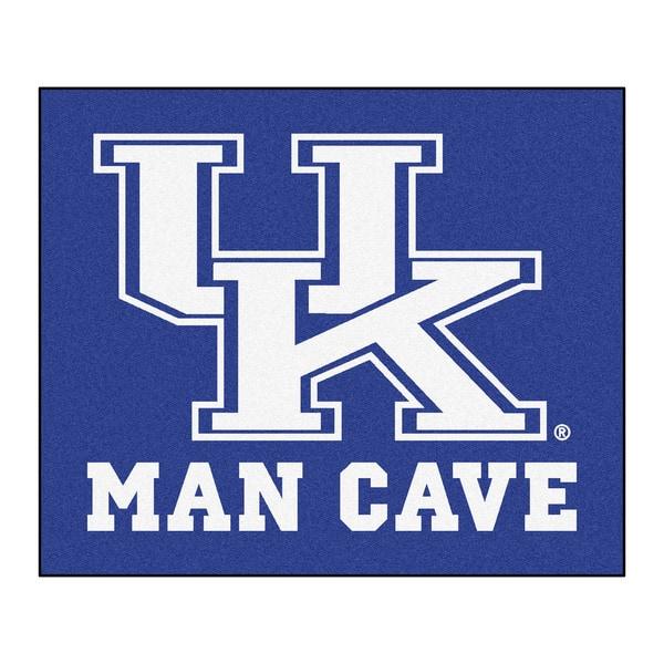 Fanmats Machine-Made University Kentucky Blue Nylon Man Cave Tailgater Mat (5' x 6')