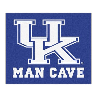 Fanmats Machine-Made University Kentucky Blue Nylon Man Cave Tailgater Mat (5' x 6')