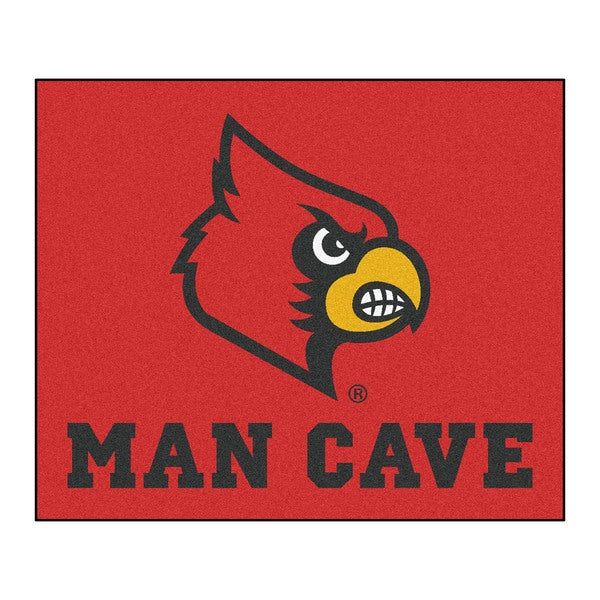 Fanmats Machine-Made University of Louisville Red Nylon Man Cave Tailgater Mat (5' x 6')