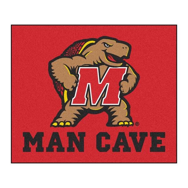 Fanmats Machine-Made University of Maryland Red Nylon Man Cave Tailgater Mat (5' x 6')