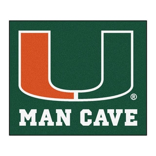 Fanmats Machine-Made University of Miami Green Nylon Man Cave Tailgater Mat (5' x 6')