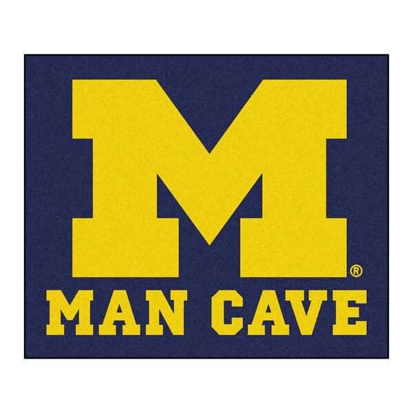 Fanmats Machine-Made University of Michigan Blue Nylon Man Cave Tailgater Mat (5' x 6')