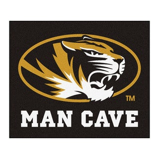 Fanmats Machine-Made University of Missouri Black Nylon Man Cave Tailgater Mat (5' x 6')