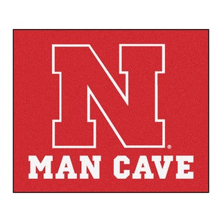 Fanmats Machine-Made University of Nebraska Red Nylon Man Cave Tailgater Mat (5' x 6')
