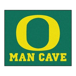 Fanmats Machine-Made University of Oregon Green Nylon Man Cave Tailgater Mat (5' x 6')