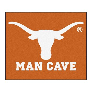 Fanmats Machine-Made University of Texas Orange Nylon Man Cave Tailgater Mat (5' x 6')