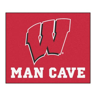 Fanmats Machine-Made University of Wisconsin Red Nylon Man Cave Tailgater Mat (5' x 6')|https://ak1.ostkcdn.com/images/products/10100931/P17242058.jpg?impolicy=medium