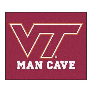 Fanmats Machine-Made Virginia Tech Burgundy Nylon Man Cave Tailgater Mat (5' x 6')