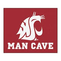 Fanmats Machine-Made Washington State University Red Nylon Man Cave Tailgater Mat (5' x 6')