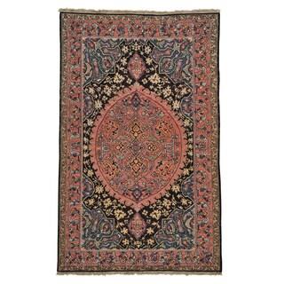 Oriental Rug Hand Woven Soumak Tabriz Design (5'7 x 9'1)
