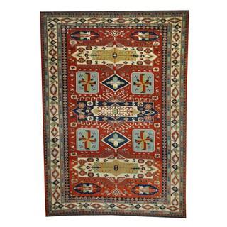Herat Oriental Afghan Hand-woven Tribal Soumak Kilim Red/ Ivory Wool Rug (6'5 x 9')