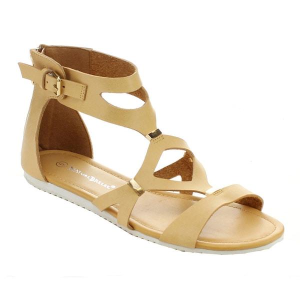 5bacb7a0f466f Shop Nature Breeze Women s Intensity-01 Back Zipper Flat Sandals ...
