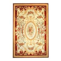 Handmade Herat Oriental Sino Aubusson Wool Rug (China) - China