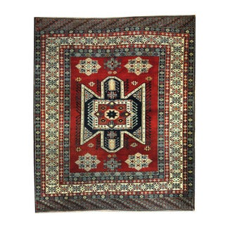Herat Oriental Afghan Hand-knotted Tribal Kazak Red/ Ivory Wool Rug (6'8 x 8')