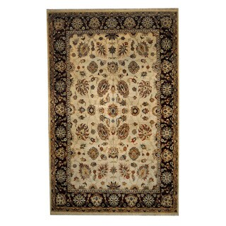 Herat Oriental Indo Hand-knotted Mahal Wool Rug (6' x 9'5)