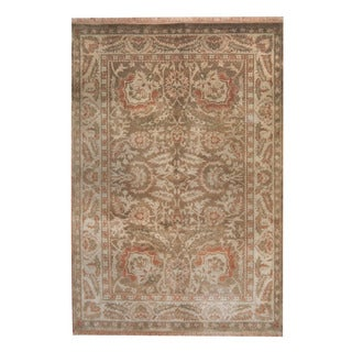 Herat Oriental Indo Hand-knotted Oushak Wool Rug (6'9 x 8'9)