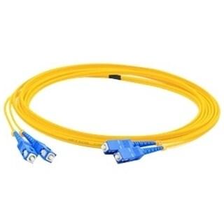 AddOn 4m SC (Male) to SC (Male) Yellow OS1 Duplex Fiber OFNR (Riser-R