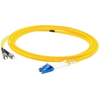 AddOn 6m Single-Mode Fiber (SMF) Duplex ST/LC OS1 Yellow Patch Cable