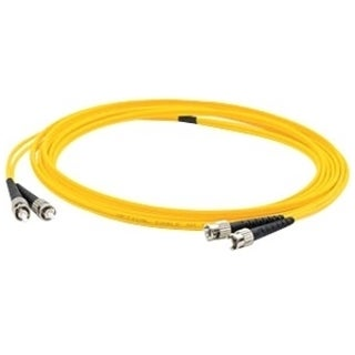 AddOn 4m ST (Male) to ST (Male) Yellow OS1 Duplex Fiber OFNR (Riser-R