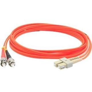 AddOn 15m Multi-Mode Fiber (MMF) Duplex ST/SC OM1 Orange Patch Cable