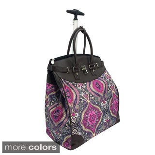 Fashion Tai Mahal Foldable Rolling Carry On 14-inch Laptop/Tablet Tote Bag (Option: Blue)