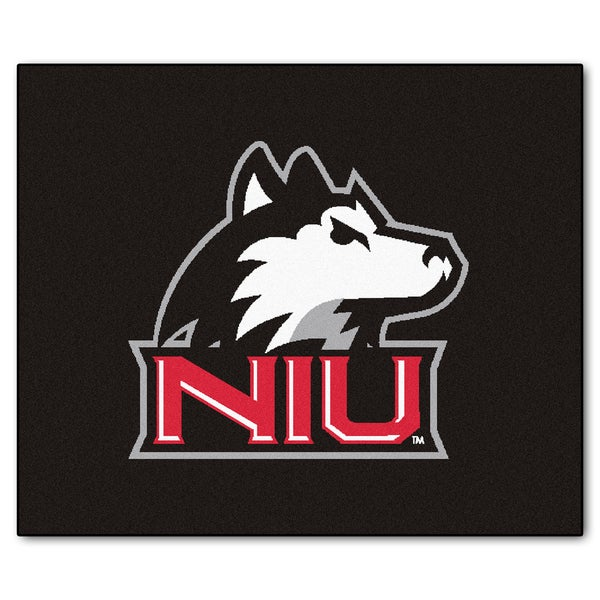Fanmats Machine-Made Northern Illinois University Black Nylon Tailgater Mat (5' x 6')