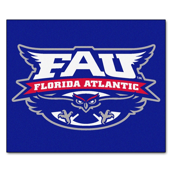 Fanmats Machine-Made Florida Atlantic University Blue Nylon Tailgater Mat (5' x 6')