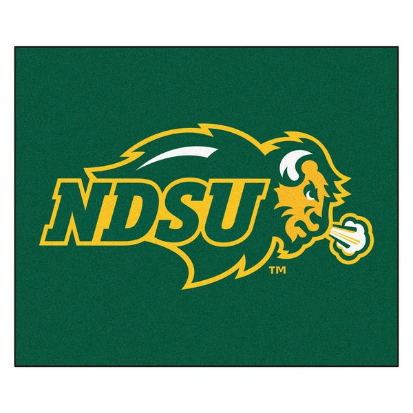 Fanmats Machine-Made North Dakota State University Green Nylon Tailgater Mat (5' x 6')