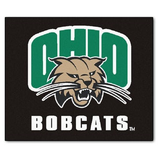 Fanmats Machine-Made Ohio University Black Nylon Tailgater Mat (5' x 6')