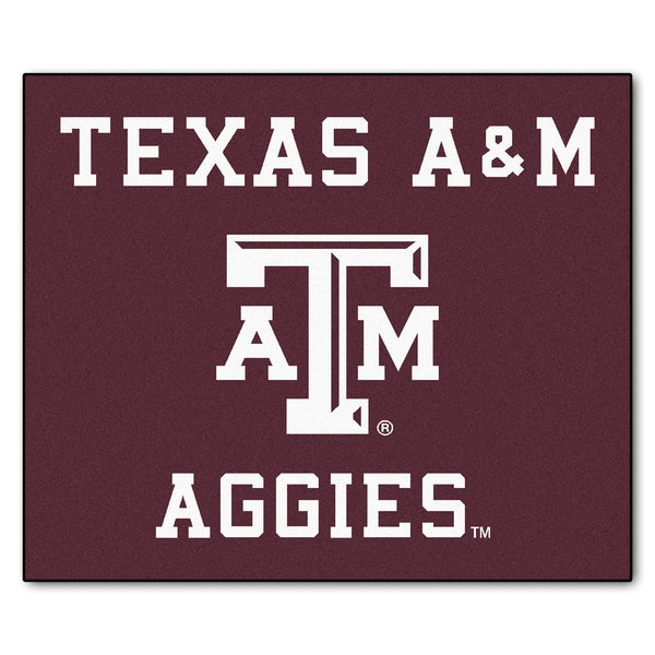 Fanmats Machine-Made Texas A&M University Burgundy Nylon Tailgater Mat (5' x 6')