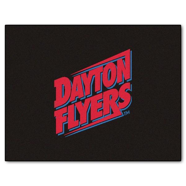 Fanmats Machine-Made University of Dayton Black Nylon Tailgater Mat (5' x 6')