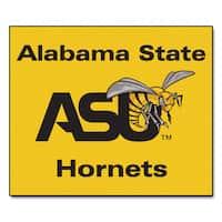 Fanmats Machine-Made Alabama State University Yellow Nylon Tailgater Mat (5' x 6')