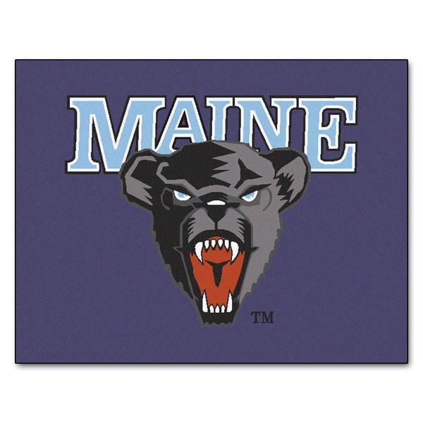 Fanmats Machine-Made University of Maine Purple Nylon Tailgater Mat (5' x 6')