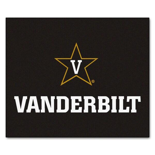 Fanmats Machine-Made Vanderbilt University Black Nylon Tailgater Mat (5' x 6')