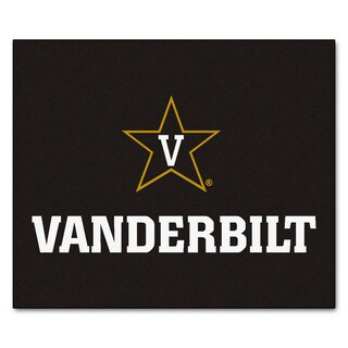 Fanmats Machine-Made Vanderbilt University Black Nylon Tailgater Mat (5' x 6')