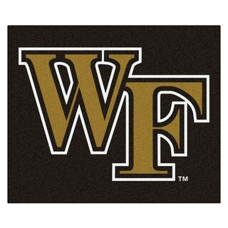 Fanmats Machine-Made Wake Forest University Black Nylon Tailgater Mat (5' x 6')