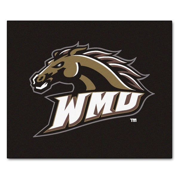 Fanmats Machine-Made Western Michigan University Black Nylon Tailgater Mat (5' x 6')