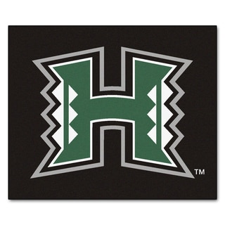 Fanmats Machine-Made University of Hawaii Black Nylon Tailgater Mat (5' x 6')