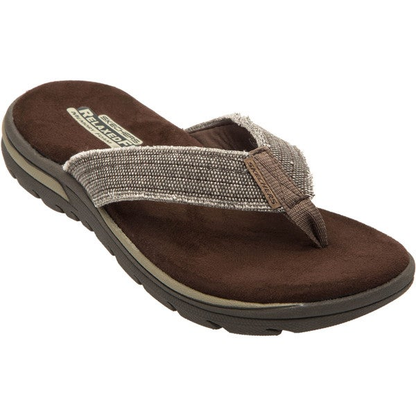 522347345cbf Shop Skechers USA Relaxed Fit 360 Memory Foam Canvas Strap Sandal ...
