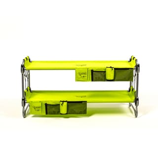 Disc-O-Bed Kid-O-Bunk Lime Green Bunk Bed with Organizer