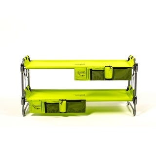 Disc-O-Bed Kid-O-Bunk Lime Green Bunk Bed with Side Organizer
