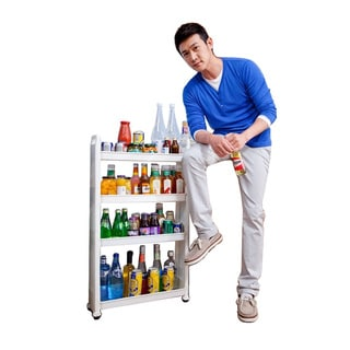 Four Shelf Movable Storage Rack