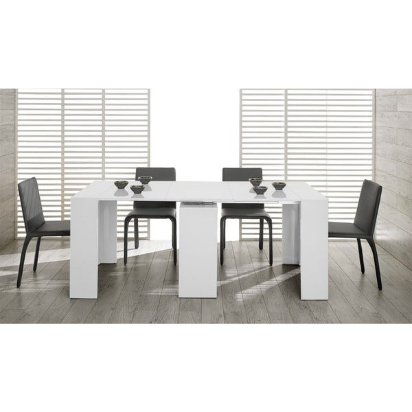 Modrest Morph Modern Ultra Compact Extendable White Dining